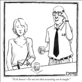 """To be honest—I'm not sure that accounting can be taught."" - New Yorker Cartoon Stretched Canvas Print by Matthew Diffee"