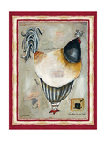 French Rooster III Reproduction procédé giclée par Jennifer Garant