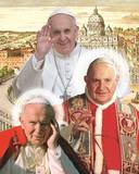 The Three Popes Poster by  Kamili