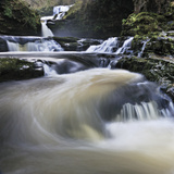 Sgwd Isaf Clun-Gwyn Waterfall and Rapids. Ystradfellte, Brecon Beacons Np, Wales, November 2011 Photographic Print by Andy Rouse