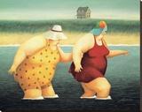 Judy and Marge Płótno naciągnięte na blejtram - reprodukcja autor Lowell Herrero