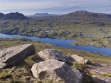 View from Cul Mor Towards Suilven, Coigach - Assynt Swt, Sutherland, Highlands, Scotland, UK Photographic Print by Joe Cornish