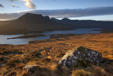 Dawn over Ben Mor Coigach and Loch Lurgainn, Inverpolly, Sutherland, Highlands, Scotland, UK Photographic Print by Peter Cairns