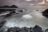 Giants Causeway at Dusk, County Antrim, Northern Ireland, UK, June 2010. Looking Out to Sea Photographic Print by Peter Cairns