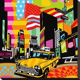 New York Taxi II Stretched Canvas Print by  Lobo