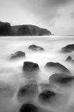 Long Exposure of Sea, with Rocks in Foreground, Bagh Dhail Mor, Isle of Lewis, Scotland, UK Photographic Print by Peter Cairns