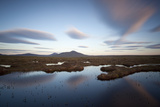 Cloud Patterns over Peat Landscape, Flow Country, Forsinard, Caithness, Highland, Scotland, July Photographic Print by Peter Cairns