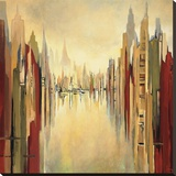 Metropolitan Afternoon Stretched Canvas Print by Gregory Lang