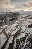 Aerial View over Glenfeshie in Winter, Cairngorms National Park, Scotland, UK, January 2012 Photographic Print by Peter Cairns