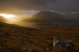Rain Clouds over Ben More Coigach and Loch Lurgainn at Dawn, Coigach, Highland, Scotland, UK Photographic Print by Mark Hamblin