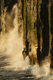 Waves Beating Against Basalt Columns at Sunrise, Langanes Peninsula, Iceland, July 2008 Photographic Print by O. Haarberg