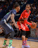 2014 NBA All-Star Game: Feb 16 - Chris Paul, Paul George Photographic Print by Andrew Bernstein