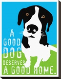 A Good Dog Stretched Canvas Print by Ginger Oliphant