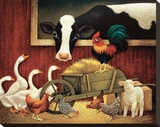All My Friends Stretched Canvas Print by Lowell Herrero