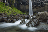 Svartifoss Waterfall with Basalt Columns, Iceland, June 2008 Photographic Print by O. Haarberg