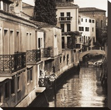Ponti di Venezia No. 4 Stretched Canvas Print by Alan Blaustein