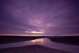 Estuarine River Inlet Running across Mudflats at Dawn, Morecambe Bay, Cumbria, UK, February Photographic Print by Peter Cairns