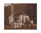 Black Family at the Hermitage, Savannah, 1907 Giclee Print