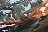 Rhyolite - Rhiolite Mountains, Landmannalaugar, Iceland, June 2008 Photographic Print by O. Haarberg