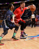 2014 NBA All-Star Game: Feb 16 - Kevin Love, John Wal Photographic Print by Andrew Bernstein