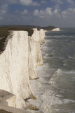 Seven Sisters Chalk Cliffs, South Downs, England Photographic Print by Peter Cairns