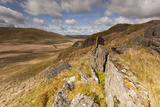 View from Rocky Outcrop into Pumlumon Fawr. Cambrian Mountains, Wales, May 2012 Photographic Print by Peter Cairns