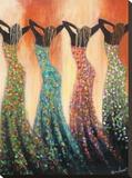 Dance of the Summer Solstice Trykk på strukket lerret av Monica Stewart