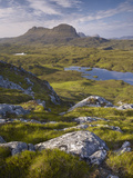 Bog Wetlands with Suilven Mountain at Dawn, Assynt Mountains, Highland, Scotland, UK, June Photographic Print by Joe Cornish