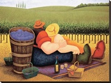 Summer Picnic Stretched Canvas Print by Lowell Herrero