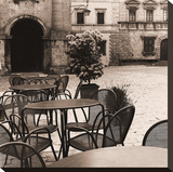 Caffè, Toscana Stretched Canvas Print by Alan Blaustein