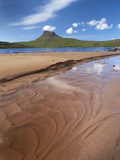 Sandy Shore of Loch Lurgain with Stac Pollaidh in the Background, Highlands, Scotland, UK, June Photographic Print by Joe Cornish