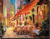 Café in Light Stretched Canvas Print by Haixia Liu