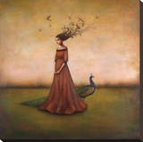 Empty Nest Invocation Stretched Canvas Print by Duy Huynh