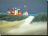 Summer Rentals Stretched Canvas Print by Lowell Herrero
