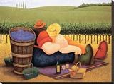Lowell Herrero - Summer Picnic Reprodukce na plátně