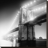 Brooklyn Bridge Stretched Canvas Print by Adam Garelick