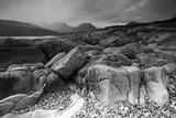 Landscape View of Camus Malag Beach on Loch Slapin, Isle of Skye, Inner Hebrides, Scotland, UK Photographic Print by Peter Cairns