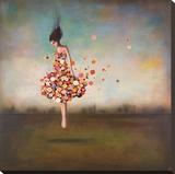 Gränslöshet i blom Sträckt Canvastryck av Duy Huynh