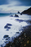 Coast on a Stormy Day, Benijo, Anaga Peninsula, North East Tenerife, Canary Islands, Spain Photographic Print by  Relanzón
