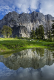 Mount Velika Mojstrovka (2,056M) Reflected in a Pool, Viewed from Sleme, Triglav Np, Slovenia Photographic Print by  Zupanc