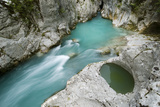 River Lepenjica, with a Pothole in Rock, Triglav National Park, Slovenia, June 2009 Photographic Print by  Zupanc