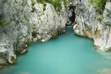 River Lepenjica Flowing Through Narrow Gap in Rocks, Triglav National Park, Slovenia, June 2009 Photographic Print by  Zupanc