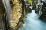 River Soca Flowing Through Velika Korita with Waterfalls, Triglav National Park, Slovenia, June Photographic Print by  Zupanc