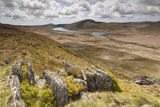 View over Upland Moorland Landscape, Cambrian Mountains, Ceredigion, Wales, May Photographic Print by Peter Cairns