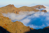 Mountains with Low Clouds Surrounding Them, La Caldera De Taburiente Np, La Palma, Canary Islands Photographic Print by Relanzón