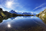 Lacs Des Cheserys with Aiguilles De Chamonix, Haute Savoie, France, Europe, September 2008 Photographic Print by Frank Krahmer