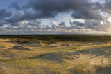Sand Dunes in Evening Light, Nagliai Nature Reserve, Curonian Spit, Lithuania, June 2009 Photographic Print by  Hamblin
