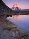 Matterhorn (4,478M) at Sunrise with Reflection in Riffel Lake, Wallis, Switzerland, September 2008 Photographic Print by  Popp-Hackner