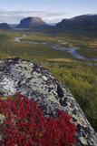 View Along Rapadalen Valley Towards Tjahkkelij, with Nammatj Mountain, Sarek Np, Sweden Photographic Print by  Cairns