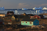 Coastal Settlement Houses, Saqqaq, Greenland, August 2009 Photographic Print by  Jensen
